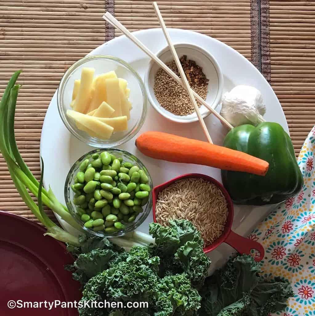 Vegetarian, gluten-free rice bowl